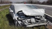 TEM'de Kaza 1 Yaralı