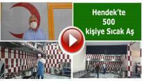 Hendek'te 500 kişiye Sıcak aş