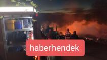 İftar Vakti Çıkan Yangında Ev ve Otomobil Kül Oldu