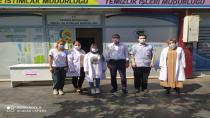 Hendek'te Pazar Yerinde Koronavirüs Aşı İstasyonu Kuruldu