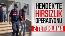 Hendek'te hırsızlık operasyonu, iki kişi Tutuklandı